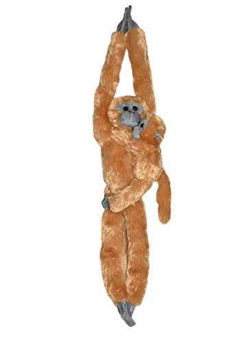 Wild Republic - Hanging Monkey peluche Langur, mamá y bebé, 51 cm (15262)