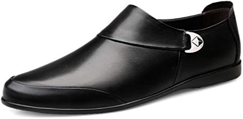 Mhsdyhdfy Wear Resistant Men's Business Leather shoes Men's Formal Dress shoes Comfortable Men's Leather shoes, Comfortable and Wearable Breathable