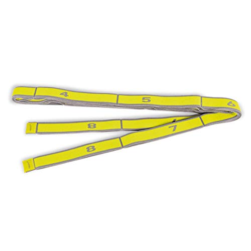 PINOFIT Stretch Band XL - Extralanges Gymnastikband mit Schlaufen - Widerstandsband - Fitnessband - Therapieband - Stretch Loop (Yellow - leicht)