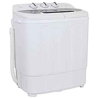 ZENY Portable Mini Twin Tub Washing Machine 13lbs Capacity with Spin Dryer,Compact Cloths Washing Machine Lightweight Small Laundry Washer for Home,Apartments, Dorm Rooms,RV's