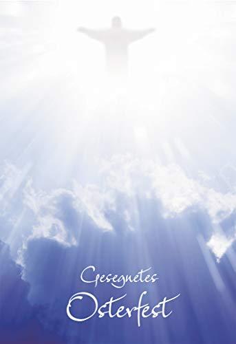 Klappkarte Gesegnetes Osterfest (6 St) Leuchtender Christus am Himmel Grußkarte