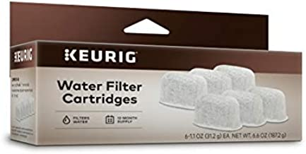 Keurig 6-Pack Water Filter Refill Cartridges, 6 count, For use with Keurig 2.0 and 1.0/Classic K-Cup Pod Coffee Makers