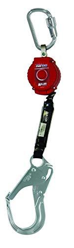 Miller TurboLite 6-Foot Personal Fall Limiter with Unit End Aluminum Carabiner & Lanyard End Aluminum Locking Rebar Hook (MFL-12-Z7/6FT)
