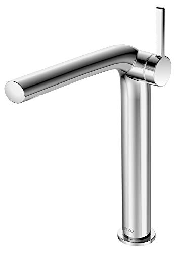 KEUCO Waschtisch-Armatur chrom für Waschbecken im Bad, Höhe 30,9cm, Einlochmontage, Design-Wasserhahn, Einhandmischer, Waschtischmischer Edition 400