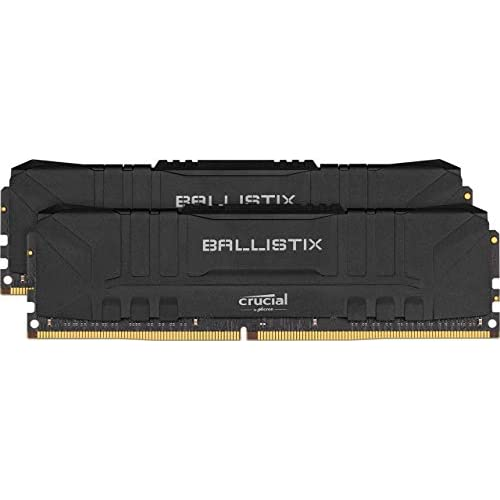 Crucial Ballistix BL2K8G32C16U4B 3200 MHz, DDR4, DRAM, Memoria Gaming Kit per Computer Fissi, 16GB (8GB x2), CL16, Nero