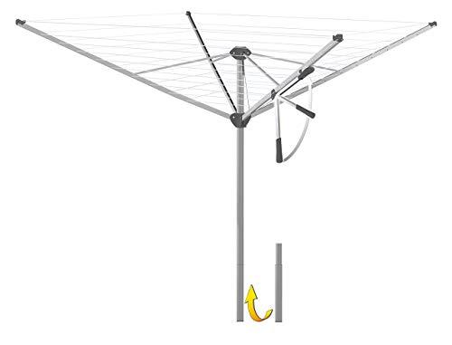 Étendoir à linge/Séchoir parapluie Nova Star 500 Compact ~ Ouverture facile grâce à leic htspann de levier, windstabile Double kastenprofilarme en aluminium et lin breveté Pinces ~