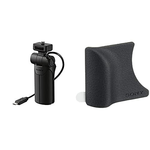 Sony VCTSGR1 Shooting Grip con Impugnatura Ergonomica e Funzione Treppiedi per Fotocamere Digitali Compatte Sony & AGR2 Impugnatura per DSC RX100, DSC RX100M2, DSC RX100M3