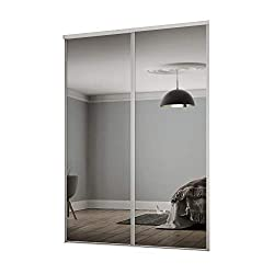 Fit openings of H2260 x W1803mm Includes 2x914mm doors and a 1800mm top and bottom track set Made in the UK Requires self assembly Safety backed glass BSEN12600