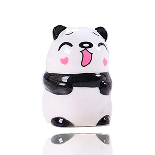 Salz Pfefferstreuer, Keramik Streuer klein mini Salzstreuer, Gewürzdosen und Zahnstocherhalter Zahnstocherspender für Salz, Pfeffer und verschiedene Gewürze, Panda
