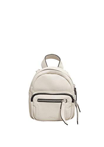 s.Oliver (Bags) Damen 39.907.94.2879 Rucksackhandtasche, Weiß (Off White), 4.5x17x15 cm