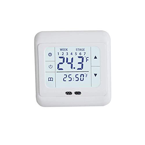 Controlador 30a Película de calefacción eléctrica Termostato de calefacción por Suelo Radiante Blanco Sin sonda