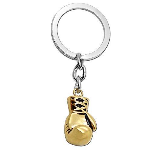 tumundo Boxhandschuh + Etui Schlüsselanhänger Schlüsselring Set von 2 STK / 1 STK Anhänger Boxen Sport Stahl Handschuh, Variante:1 Boxhandschuh golden