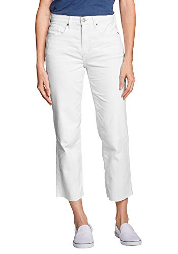 Eddie Bauer Damen ORIGINAL HIGH Rise Stovepipe Crop Jeans, Gr. 4 (34), Weiß