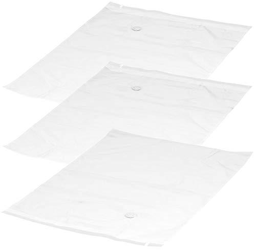 PEARL Kleidersäcke: 3er-Set Vakuum-Beutel zur Kompression per Staubsauger, 80 x 100 cm (Vakuumbeutel Wäsche)