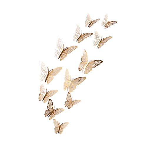 catmoew wanddekoration 12PCS Hohl Schmetterling Wandaufkleber wanddeko wandtattoo wohnzimmer kinder wandtattoo wohnzimmer selbst gestalten wandgestaltung