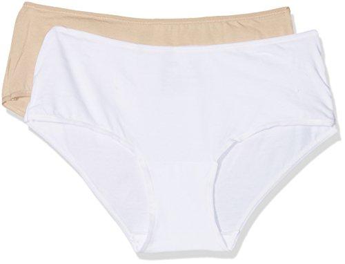 Unno DIM Basic Algodón elástico Pack x2 Dim Basic Braguita, Blanco (New Skin/Blanco 5B8), (Tamaño del Fabricante:36/38) 2 para Mujer