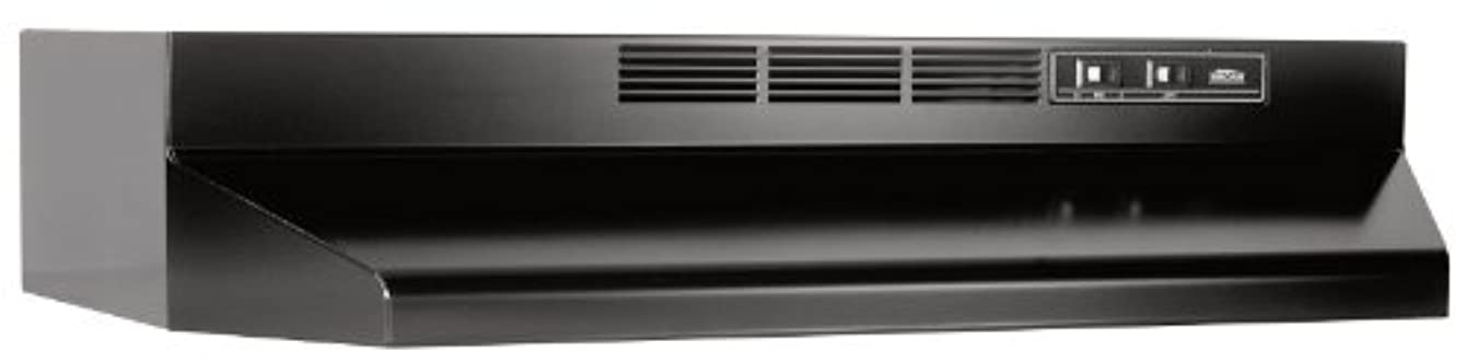 Broan 413623 ADA Capable Non-Ducted Under-Cabinet Range Hood, 36-Inch, Black