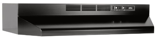 "Broan 413023 Range Hood, 30"", Non-Ducted, Black"