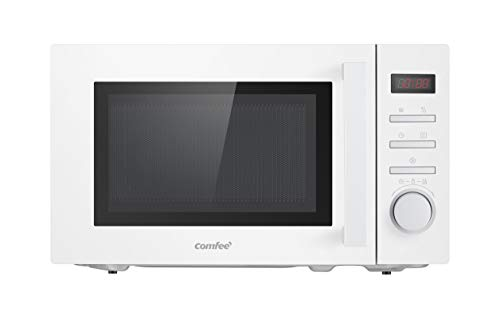 Comfee Microondas CMSN 20di wh, solo con función Express, 8 menús preestablecidos, temporizador, iluminación interior, pantalla digital LED, 20L, 700W, color blanco