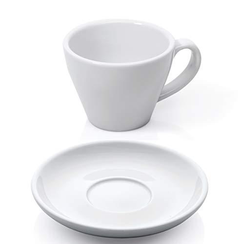 Gastro Spirit - 12-teiliges Doppel Espresso-Tassen/Mokka-Tassen Set - Weiß, 180 ml, Porzellan, dickwandig