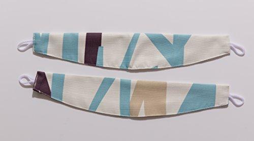 ナイスデイ IN-FA-LA 北欧デザイン 遮光カーテン枚組(遮熱 保温 形状記憶) 100×110cm ブルー 487310