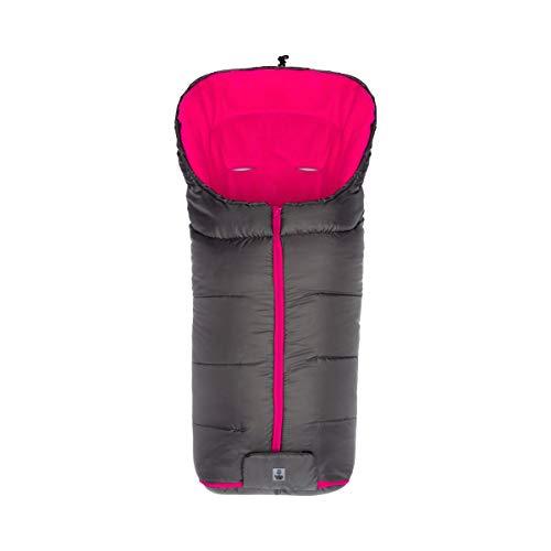 babycab Chancelière d'hiver Eco big pour poussette et poussette-canne accessoires pour poussette, gris/rose vif