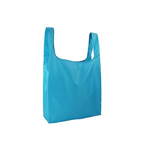 Star Supermarket duurzame opvouwbare boodschappentas, milieuvriendelijke supermarkt boodschappentassen voor het bewaren van hoofdboodschappen van levensmiddelen. hemelsblauw