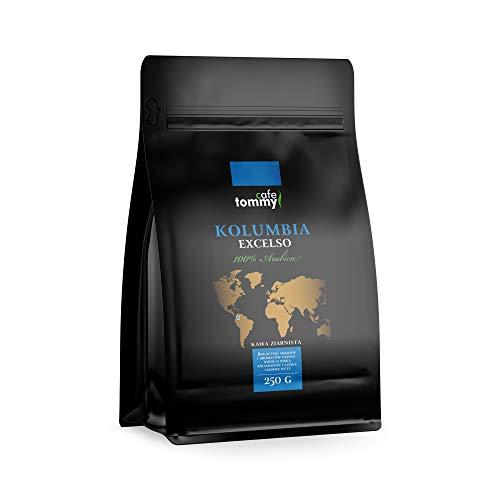 Kawa ziarnista TreCoffe 250g Doskonały zapach i aromat. Nadająca się do wszystkich ekspresów i filtrów. 250 gram cudownego smaku i energi. (Kolumbia Excelso)