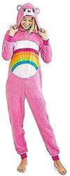 Care Bear Cheer Pink Women's Union Suit Pajama Costume