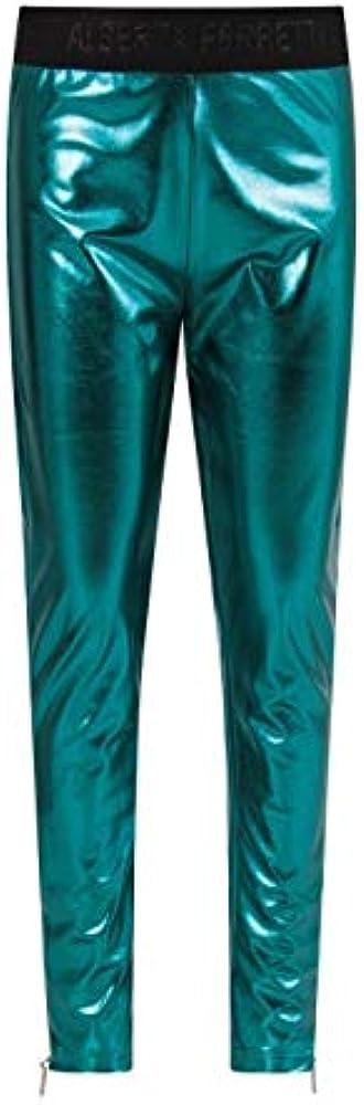 Alberta ferretti, leggings per donna,96% cotone, 4% elastan,con elastico in vita parlato cerniera a scomparsa 025417051T
