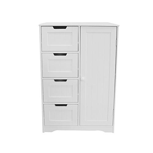 Panana con 4cassetto e 1anta in legno armadietto stanza mobili armadio 81x 60x 30cm