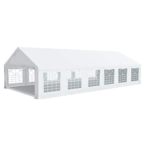 INTEROUGE - Tenda per ricevimenti, 6 x 12 m, in PVC, 500 g/m2, Altezza 50 mm 2,20 m
