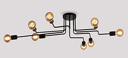 BANNAB Luces de Techo, Luces de Techo Retro Americanas, lámparas de Pintura de Hierro Forjado Creativas, adecuadas para Dormitorio, Sala de Estar y Otras Decoraciones