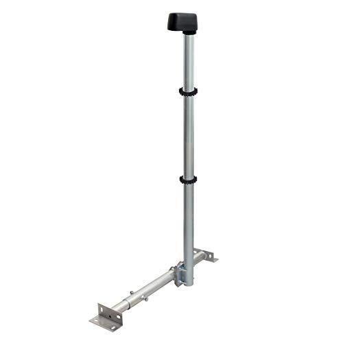 PremiumX Basic X120-48 SAT TV Dachsparrenhalter 120cm Stahl Mast Dach-Sparren-Halterung für Satellitenschüssel Satelliten-Antenne LTE   Kabeldurchführung Mastkappe 2X Mastclip