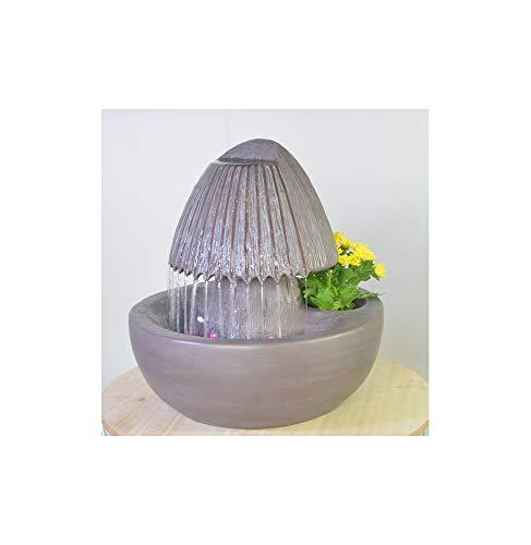 Zen Light Umbrepot Zimmerbrunnen mit Pumpe und LED-Beleuchtung, Kunstharz, Einheitsgröße