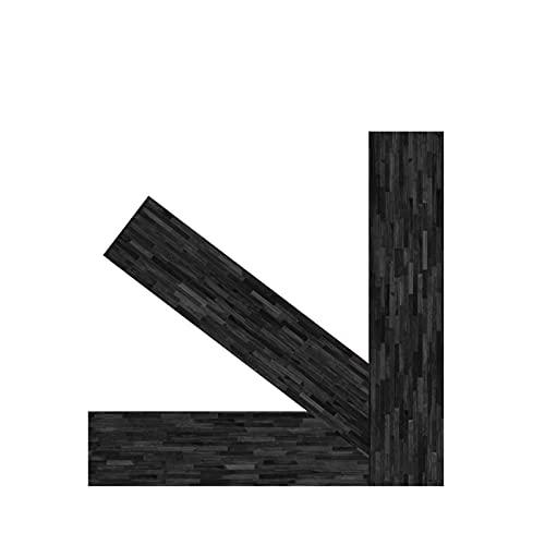 7.87 × 39.4 Pulgadas Imitación Madera Grano Mate Pegatinas para Piso Impermeables, Antideslizantes Autoadhesivas para Piso Sala De Estar Dormitorio Oficina Centro Comercial Decoración 3 Piezas Negro