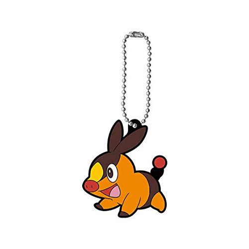 Pokemon Rubber Mascot Figure Swing Keychain 12~498 Pokabu Tepig Floink Gruikui