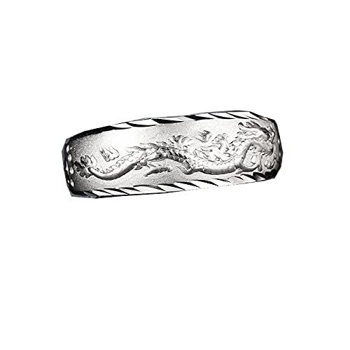 Anillo de oro de 24 k para hombre, anillo ajustable de dragón con grabado de lujo, joyería de moda