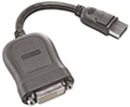 Lenovo 45J7915 DVI cable - single link - DisplayPort (M) - DVI-D (F) - 7.9 in - gray - for ThinkCentre E73, M93, ThinkPad L520, T420, X220, ThinkStation E32, S20, ThinkVision LT1952 by Lenovo