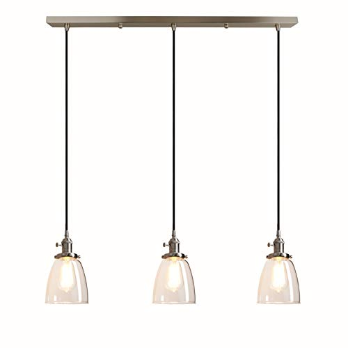 Pathson Industrial 3-Light Pendant Lighting Kitchen Island...