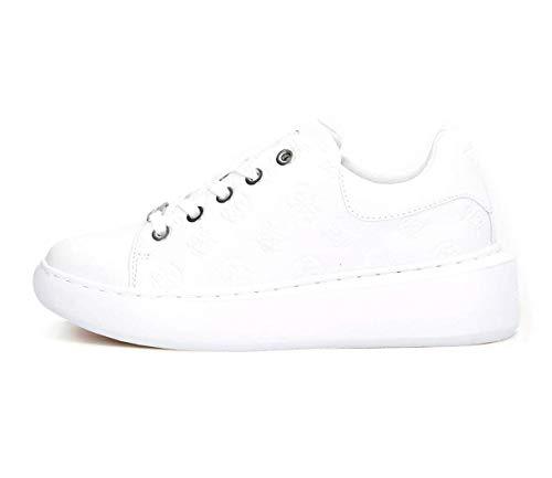 Guess Bradly, Zapatillas Deportivas Mujer, Blanco, 39 EU