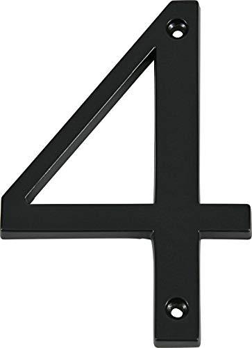 Distinctions 843144 Black Flush-Mount 4-Inch House Number 4