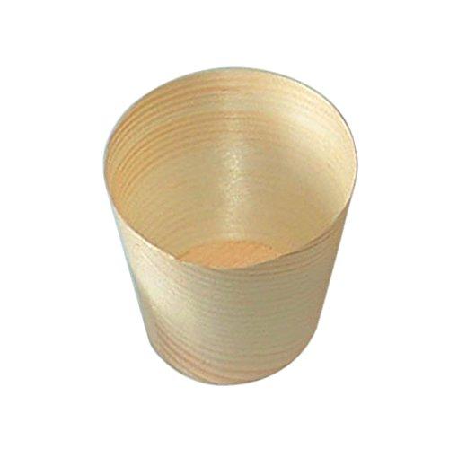 Garcia de Pou 50 unité Mini Tasses en boîte, Bois, Naturel, 30 x 30 x 30 cm