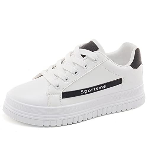 Zapatos Deportivos Planos Informales de Suela Gruesa con Cordones para Mujer Zapatillas de Deporte Antideslizantes de Fondo Suave para Mujer Zapatos de conducción cómodos y Acolchados