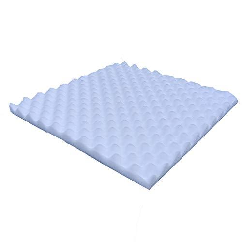 FENSIN Schalldichter Schwamm, Akustikschaum-Platten Schalldämmungs-Tapete für Wohnzimmer-Schlafzimmer KTV Schalldicht 50x50x2cm (weiß)