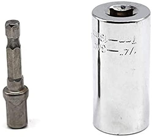 Llave Universal Juego de cabezales de llave dinamométrica Manguito de enchufe 7-19 mm Taladro eléctrico Buje de trinquete Llave inglesa Llave mágica Herramientas manuales múltiples Herramientas de rep