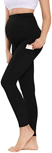 Foucome Women s Maternity Yoga Pants Over The Belly 4 Way Stretch Pregnancy Workout Yoga Leggings product image