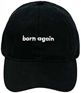 Born Again Christian Hats for Men-Christian Gifts for Women and Men-Christian Baptism Gifts-Black Christian Dad Hats (Unst...