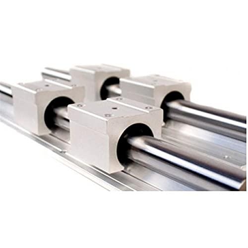 LXFFCOK Rail lineare da 16 mm SBR 2. X GuidEway Rail lineare 19.68 Pollici 500mm, 4 x Blocchi del Cuscinetto Type Type Carrello per Macchine automatizzate (Guide Length : 500mm)