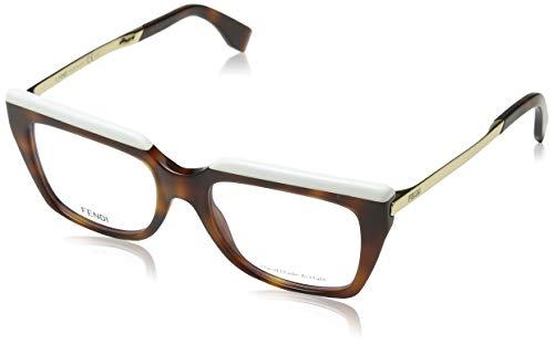 Fendi Brillengestelle FF 0088 CUM Rechteckig Brillengestelle 51, Braun